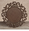 GG Collection Gracious Goods Round Metal Charger Plates (4)