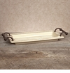 GG Collection Gracious Goods Small Cream Ceramic Tray with Handles