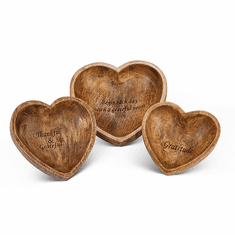 GG Collection Gratitude Heart Bowls Set Of 3