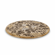 GG Collection Inlay Laser Leaf Lazy Susan