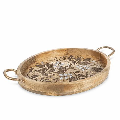 GG Collection Inlay Laser Leaf Tray Gold Handle