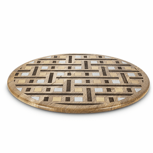 GG Collection Inlay Laser Weave Lazy Susan