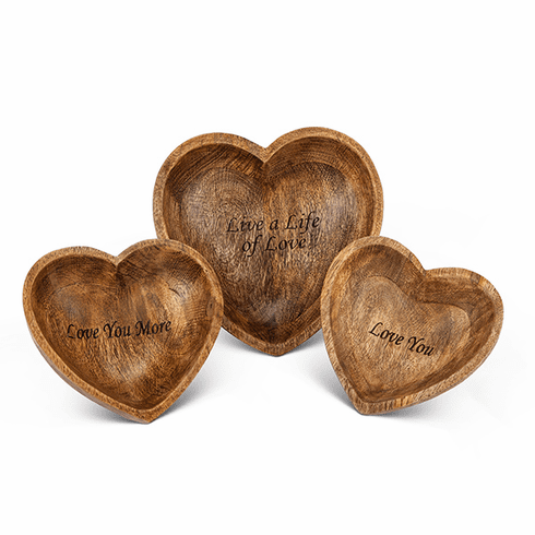 GG Collection Love Heart Bowls Set Of 3