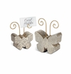 GG Collection Marble Butterfly Holders (Set Of 2)