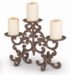 GG Collection Metal Acanthus Leaf 3-Tier Candle Holder