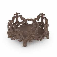 GG Collection Metal Acanthus Leaf Salad Plate Holder