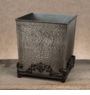 GG Collection Wastebasket - Hammered Antique Silver