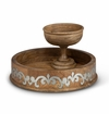GG Collection Wood And Metal Chip And Dip