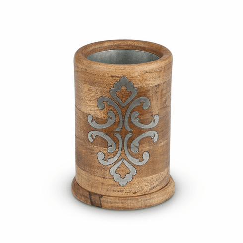 GG Collection Wood And Metal Wine Chiller
