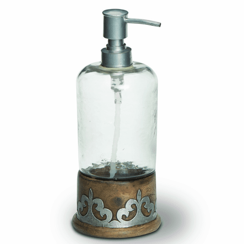 GG Collection Wood & Metal Soap Dispenser