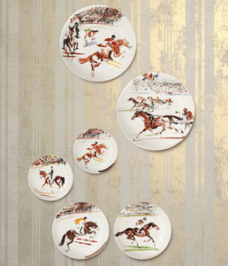 Gien Cavaliers Horse Dinnerware Collection