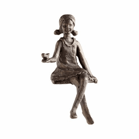 Girl Bronzed Iron Shelf Sitter by Cyan Design