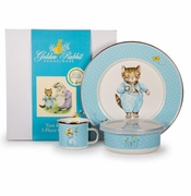 Golden Rabbit Children's Dinnerware Sets