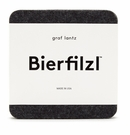 Graf Lantz Square Felt Coasters Set of 4 Charcoal
