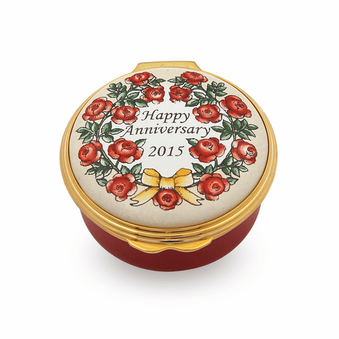 Halcyon Days 2015 Happy Anniversary Box Enameled Box