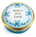 Halcyon Days Baby's First Tooth Boy Enamel Box