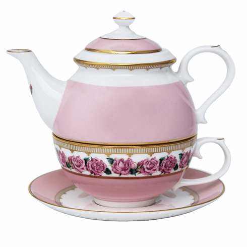 Halcyon Days Castle Gardens of Mey Shell Garden Floral Rose Tea for One