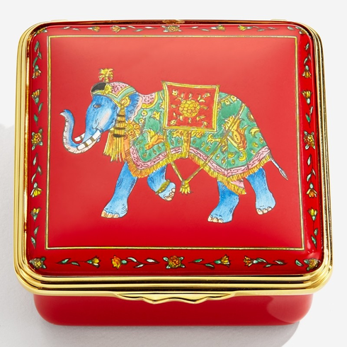 Halcyon Days Ceremonial Indian Elephant Red