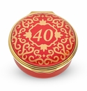 Halcyon Days Classic Number 40 Red Enamel Box