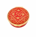 Halcyon Days Classic Number 50 Red Enamel Box