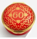 Halcyon Days Classic Number 60 Red Enamel Box