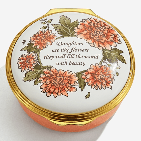 Halcyon Days Daughter's Are Like Flowers Enamel Box