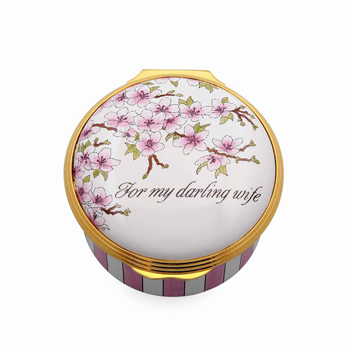 Halcyon Days For My Darling Wife Enamel Box