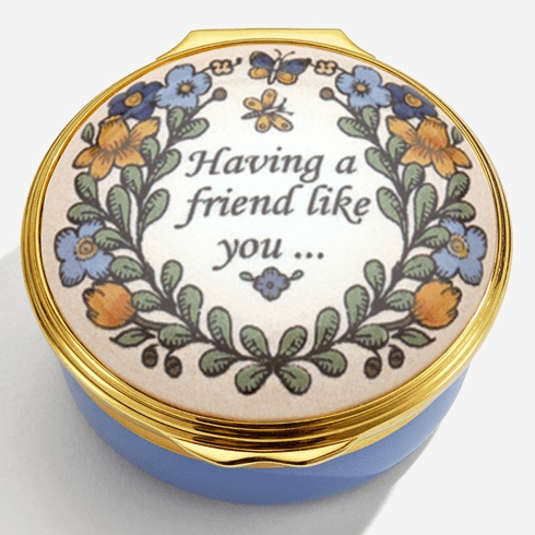 Halcyon Days Having a friend like you Enamel Box