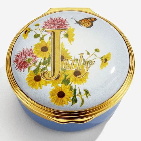 Halcyon Days July Enamel Box