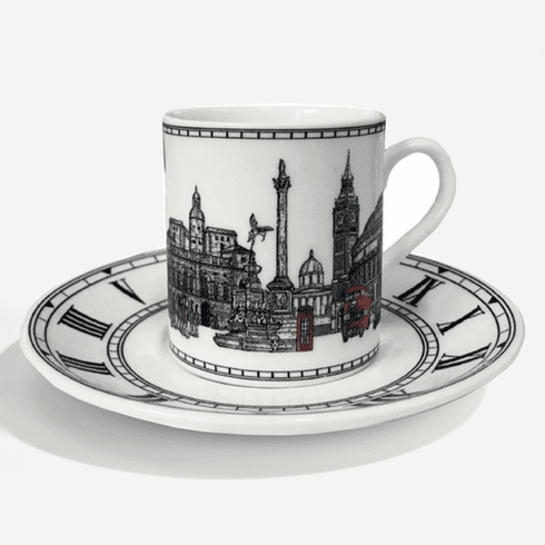 Halcyon Days London Icons Coffee Cup & Saucer