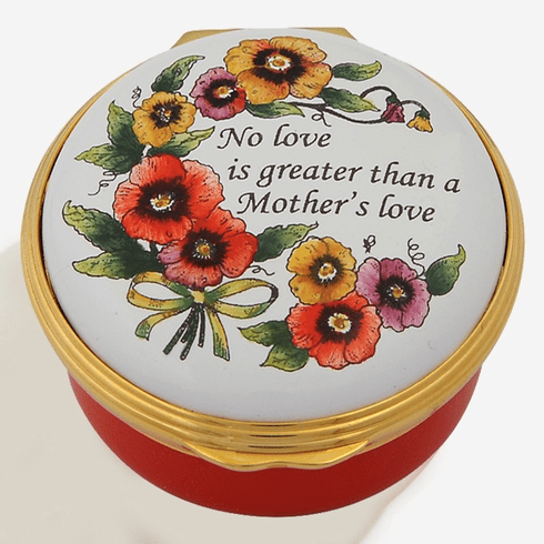 Halcyon Days No love is greater Enamel Box