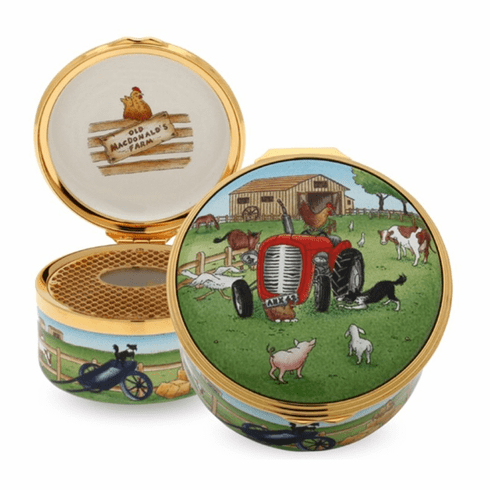 Halcyon Days Old MacDonald Musical Enamel Box