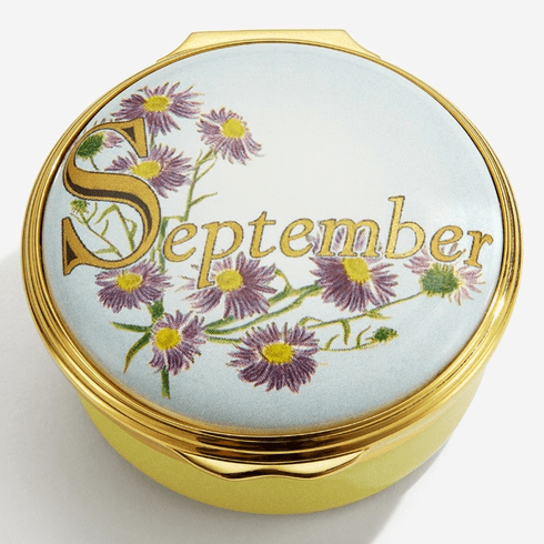 Halcyon Days September Enamel Box