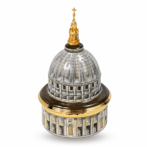Halcyon Days St Paul's Cathedral Musical Enamel Box