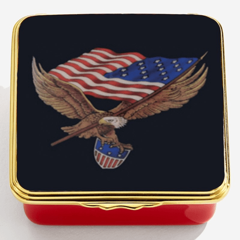 Halcyon Days Star Spangled Banner Enamel Box