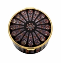Halcyon Days The Rose Window at Westminster Abbey Enamel Box