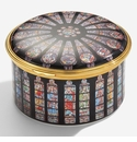 Halcyon Days The Rose Window at Westminster Abbey Musical Enamel Box