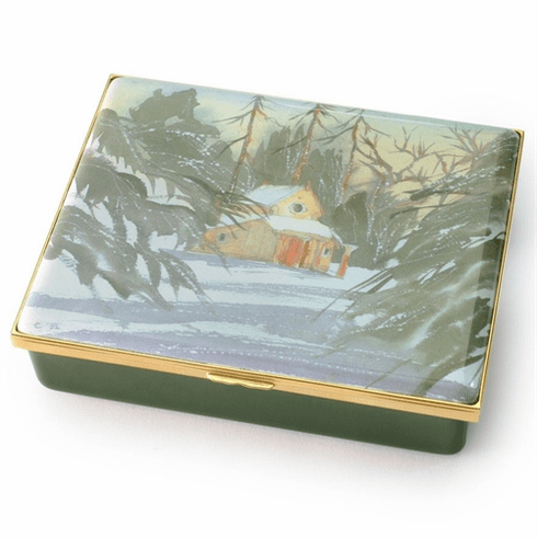Halcyon Days The Sanctuary by HRH The Prince of Wales Leather Lined Enamel Box LE100