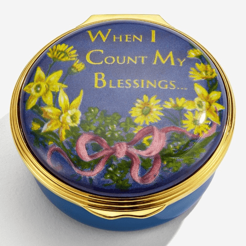 Halcyon Days When I Count My Blessings Enamel Box