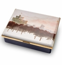 Halcyon Days Windsor Castle by HRH The Prince of Wales Leather Lined Enamel Box LE100
