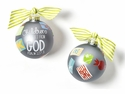 Happy Everything Children Are A Gift From God Glass Ornament