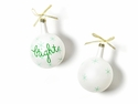 Happy Everything Christmas Spirits Bright Vintage 80MM Glass Ornament