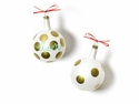 Happy Everything Christmas Spirits Cheer Vintage 80MM Glass Ornament