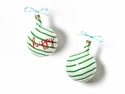 Happy Everything Christmas Spirits Happy Vintage 80MM Glass Ornament