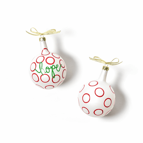 Happy Everything Christmas Spirits Hope Vintage 80MM Glass Ornament