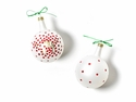 Happy Everything Christmas Spirits Joy Vintage 80MM Glass Ornament