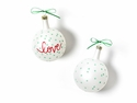 Happy Everything Christmas Spirits Love Vintage 80MM Glass Ornament