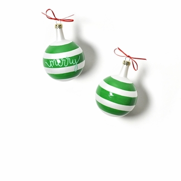Happy Everything Christmas Spirits Merry Vintage 80MM Glass Ornament