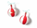 Happy Everything Christmas Spirits Peace Vintage 80MM Glass Ornament