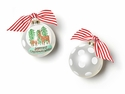 Happy Everything Christmas Wishes Snow Globe 100MM Glass Ornament
